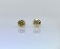 14 Karat Yellow Gold Yellow Diamond Stud Earrings (0.21ct)