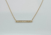 14 Karat Yellow Gold Diamond Bar Necklace (0.19ct)