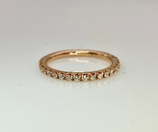 14 Karat Rose Gold Diamond Eternity Ring (0.50ct)