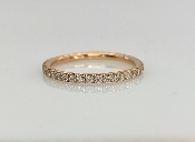 14 Karat Rose Gold Diamond Eternity Band (0.49ct)