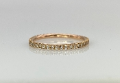 14 Karat Rose Gold Diamond Eternity Band (0.24ct)