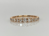 14 Karat Rose Gold Graduated Diamond Ring (0.40ct)