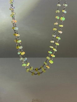 Ethiopian Opal Necklace 36""