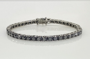 14 Karat White Gold Black Diamond Tennis Bracelet (13.83ct)