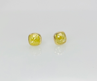 14 Karat Yellow Gold Yellow Diamond Stud Earrings (2.0ct)