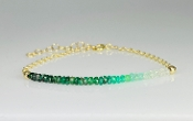 "Emerald Graduated Bar Bracelet (2"" bar)"