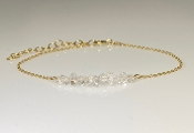Herkimer Diamond Bar Bracelet