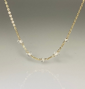 Five Stone White Herkimer Diamond Necklace