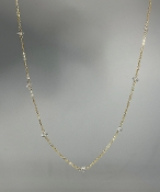 White Herkimer Diamond Lucky 7 Necklace