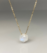 Honeycomb Rainbow Moonstone Necklace