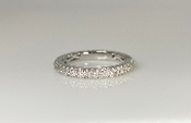 14K White Gold Pave Diamond Eternity Band 0.62ct SIZE 6