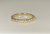 14K Yellow Gold Diamond Half Eternity Band 0.34ct