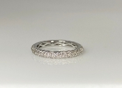 14K White Gold Pave Diamond Eternity Band 0.64ct