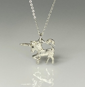 Black Diamond Unicorn Necklace
