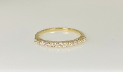 14K Yellow Gold Half Eternity Diamond Band 0.32ct