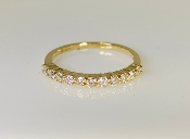 14K Yellow Gold Half Eternity Diamond Band 0.45ct