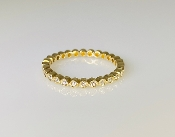 14K Yellow Gold 3/4 Bezel Set Diamond Band 0.16ct