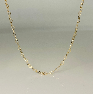 Heart Chain Necklace 3mm