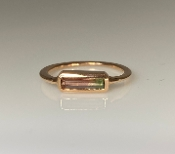 14K Rose Gold Watermelon Tourmaline Ring 4x10mm