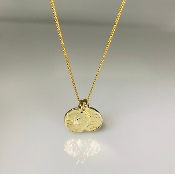 14 Karat Yellow Gold Love Initials Necklace