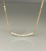 White Fresh Water Pearl Bar Necklace
