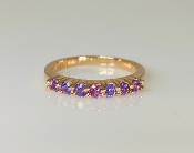 14K Rose Gold Pink and Purple Sapphire Ring 0.54ct