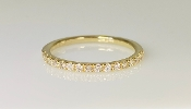 14K Yellow Gold Half Eternity Diamond Band 0.25ct