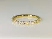 14K Yellow Gold Half Eternity Diamond Band 0.35ct