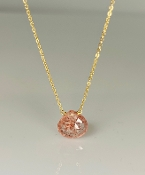 Sunstone Drop Necklace 10mm
