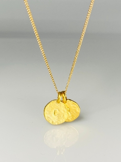 Love Initials Necklace - Gold Plated 26""