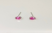 14K White Gold Marquise Ruby Stud Earrings 0.27ct