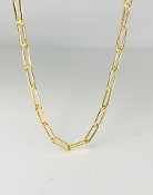 Gold Filled Paper Clip Chain Large Link Size 16-18