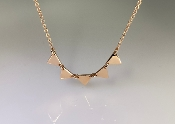 14K Rose Gold 5 Triangle Necklace