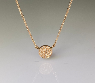 14 Karat Rose Gold Diamond Disc- Pendant (0.10ct)