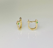 14K Yellow Gold Micro Pave Diamond Mini Snake Earrings 0.10ct