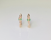 14K Rose Gold Micro Pave Diamond Mini Snake Earrings 0.10ct
