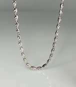 Sterling Silver Diamond Cut Barrel Bead Chain Size 16/18/22