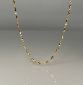 Gold Filled Tube Chain 26""
