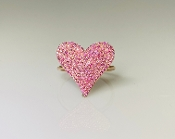 14K Rose Gold Pink Sapphire Heart Ring 0.65ct