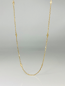 14K Yellow Gold Diamond By The Yard Necklace 0.23ct