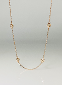 14K Rose Gold Diamond By The Yard Necklace 1.11ct