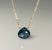 London Blue Hydro Quartz Necklace (10mm)