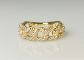 14 Karat Yellow Gold Diamond Chain Ring (0.70ct)