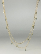 14 Karat Yellow Gold Green Sapphire bubble Necklace (8.75ct)