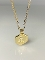14K Yellow Gold Diamond Honeycomb Love Initials Necklace