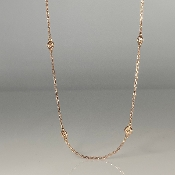 14K Rose Gold Diamond By The Yard Necklace 0.50ct