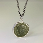 Ancient Coin Pendant (Constantine II 337-340 A.D.)