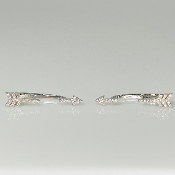 14K White Gold Diamond Arrow Earrings 0.16ct