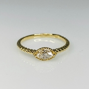 14K Yellow Gold Marquise Diamond Ring 0.18ct