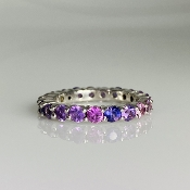 14K White Gold Pink Sapphire Ring 2.14ct